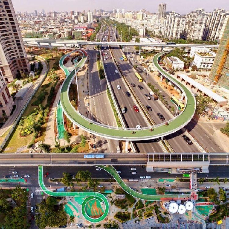 La bicisenda elevada de Xiamen se convirtió en la más grande del mundo con capacidad para que 2.000 bicicletas circulen en simultáneo