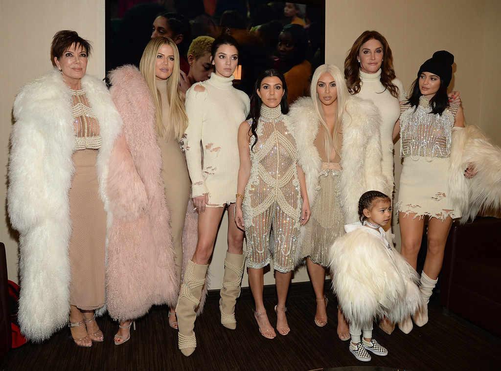 Khloe Kardashian, Kris Jenner, Kendall Jenner, Kourtney Kardashian, Kim Kardashian West, North West, Caitlyn Jenner, Yeezy Season 3
