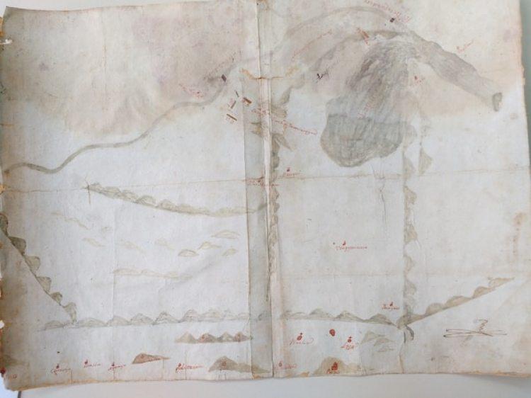 Un croquis original del combate, dibujado por uno de los comandantes revolucionarios (Alejandro Rabinovich)