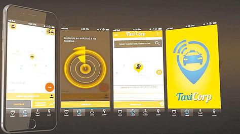 Radiomóviles. Captura de pantalla de la aplicación Taxi Corp.