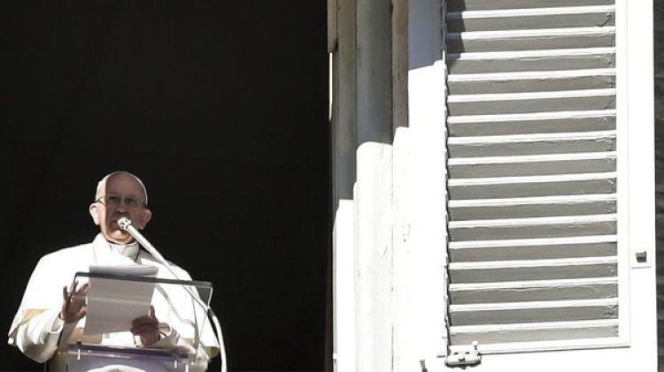 El pontífice hizo su pedido durante el Ángelus, tradicional rezo católico del mediodía (AFP)