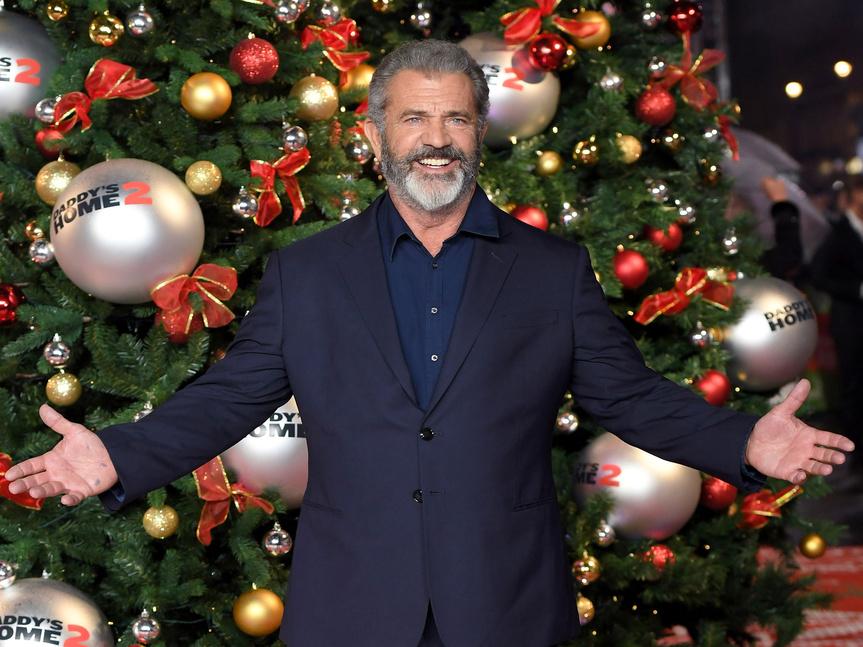 Mel Gibson en Reino Unido en la premiere de