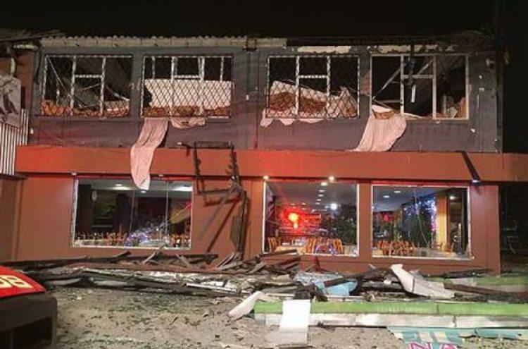 El restaurante quedó devastado luego de la explosión. (Cortesía El Comercio)
