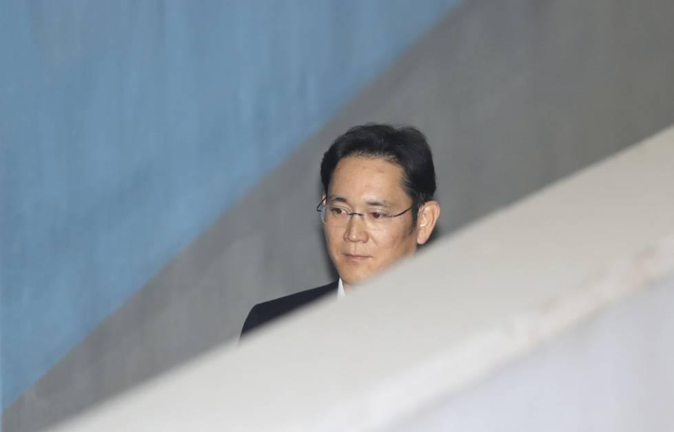 Lee Jae Yong, vicepresidente de Samsung, llega a la corte de Seúl, este mércoles.