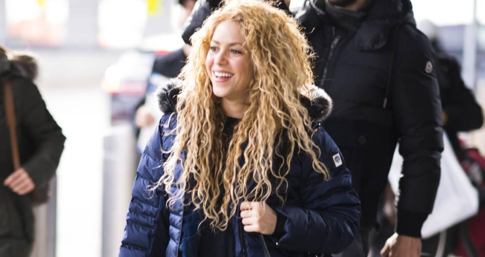 Shakira, el pasado 24 de diciembre a su llegada a Nueva York.