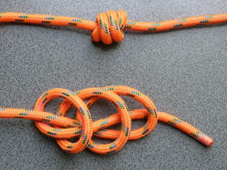Ejemplo de nudos de quipu, (Wikipedia)