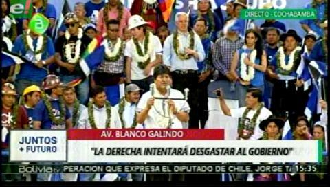 """Evo Morales: """"La derecha, los vende patria, pierden su tiempo,… jamás nos van a derrotar"""""""