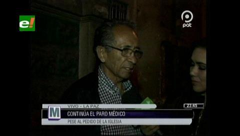 Médicos analizan hoy una pausa en la huelga a pedido de la Iglesia