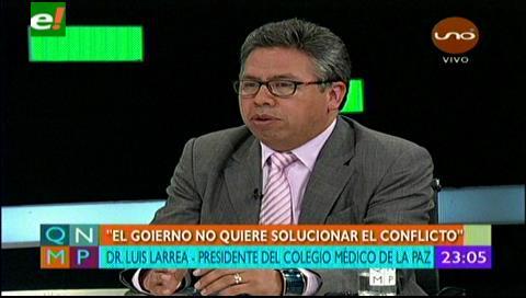 Luis Larrea dio un paso al costado para viabilizar un diálogo médicos – Gobierno
