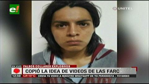 Joven que colocó collares con falsos explosivos se inspiró en videos de las FARC