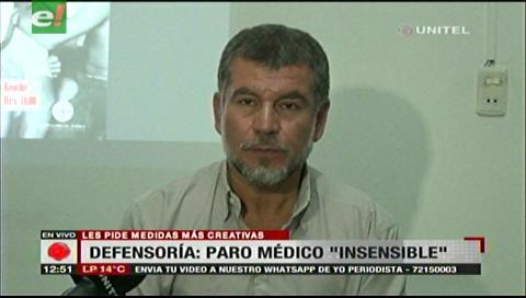 """Defensor del Pueblo califica de """"insensible"""" el paro de los médicos, pide otras medidas"""