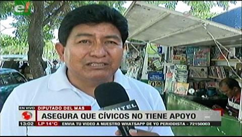 Diputado Montaño afirma que el paro cívico será un fracaso y sin respaldo