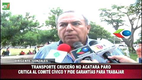 Transporte público cruceño no acatará el paro cívico