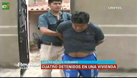 Santa Cruz: Arrestan a cuatro delincuentes en el Barrio Taropé