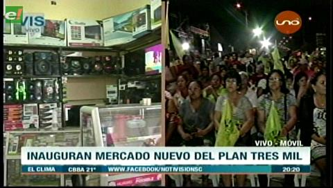 Municipio cruceño inaugura mercado modelo del Plan Tres Mil