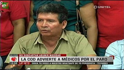 COD cruceña advierte acciones contra el paro de los médicos