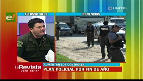 Santa Cruz: Policía pondrá en marcha el plan de seguridad para las fiestas de fin de año