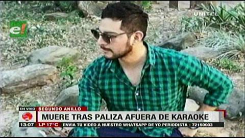 Santa Cruz: Joven muere tras paliza afuera de un karaoke, Policía identificó al asesino