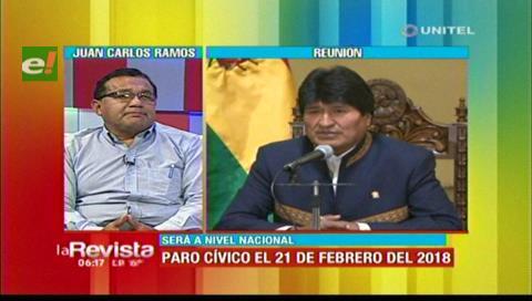Cívicos del país le piden al Gobierno respeto al estado de derecho y a la CPE