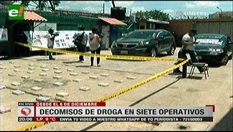 Narcotráfico es afectado en más de $us 500.000