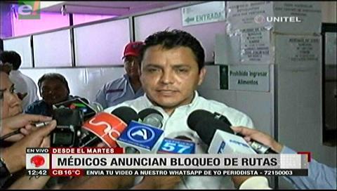 Santa Cruz: Médicos determinan instalar bloqueos desde el martes