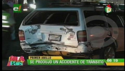 Una persona resulta herida tras choque de dos vehículos