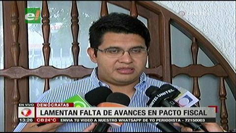 """Vladimir Peña: """"Rechazamos las conclusiones del Gobierno sobre el pacto fiscal"""""""