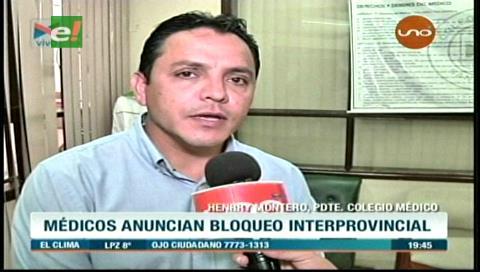Santa Cruz: Médicos anuncian bloqueo de carreteras