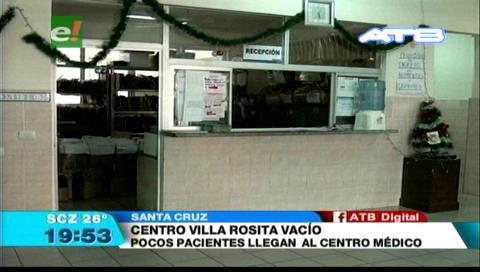 Pocos pacientes llegan hasta el centro médico Villa Rosita