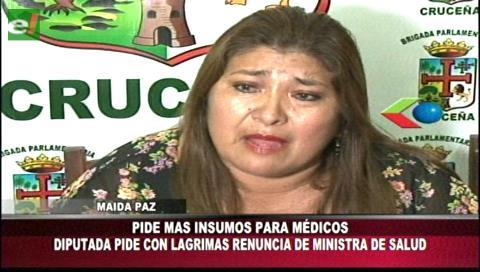 Diputada Paz llama incapaz e irresponsable a la ministra de Salud y pide su renuncia