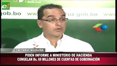 Arcas de la Gobernación cruceña sufre recorte de Bs. 69 millones
