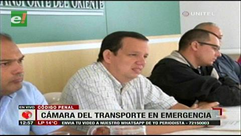 Cámara del Transporte en emergencia por el Código Penal