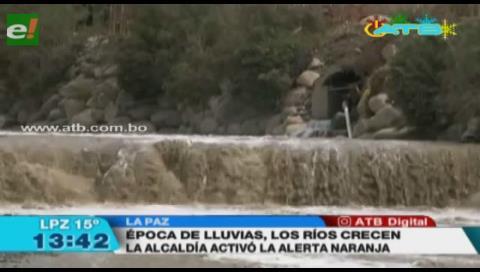 Alcaldía de La Paz activó la alerta naranja por crecida de ríos