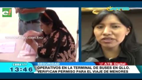 Defensoría de Quillacollo intensifica controles en la terminal de buses