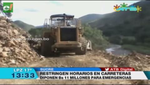 ABC restringe horarios de circulación en carreteras interprovinciales en Chuquisaca