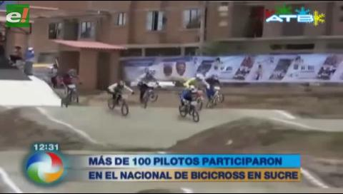 Más de 100 pilotos participan del nacional de bicicross en Sucre