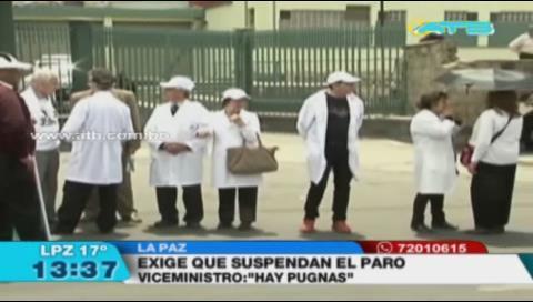 Gobierno exige suspender el paro médico e iniciar el diálogo