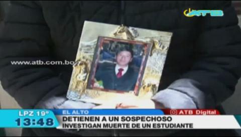 Detienen a sospechoso de la muerte de un joven de 19 años en El Alto