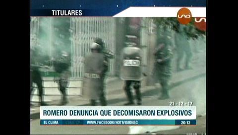 Video titulares de noticias de TV – Bolivia, noche del jueves 21 de diciembre de 2017
