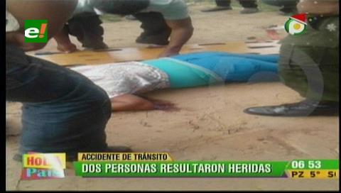 Motociclista y su acompañante gravemente heridos tras choque en un rompe muelle