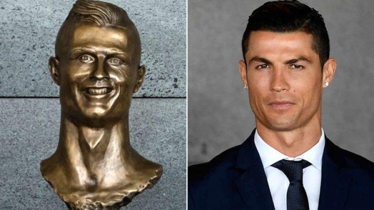 El fallido busto de Cristiano Ronaldo