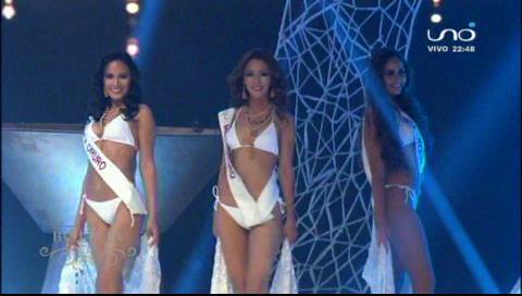 Candidatas a Miss Bolivia 2018 en traje de baño