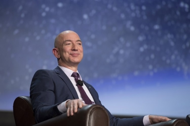 Jeff Bezos,CEO de Amazon y fundador de Blue Origin. (Bloomberg/Matthew Staver)