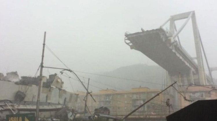 El puente Morandi tiene 1.182 metros de longitud y una altura de 90 metros