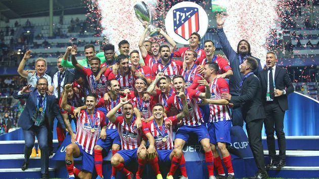 Así celebró el Atlético de Madrid el triunfo en la Supercopa de Europa