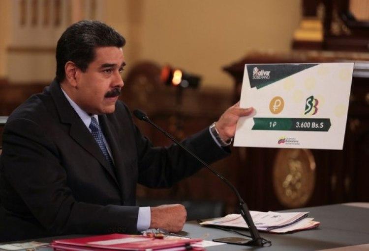 Maduro anunció que habrá un tipo de cambio único que usará como referencia la criptomoneda Petro, una medida que implica una devaluación de un 96 por ciento (Reuters)