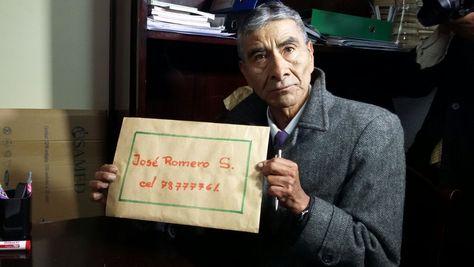 José Romero Sandoval , primer postulante para el cargo de Fiscal General. Foto: Ángel Guarachi