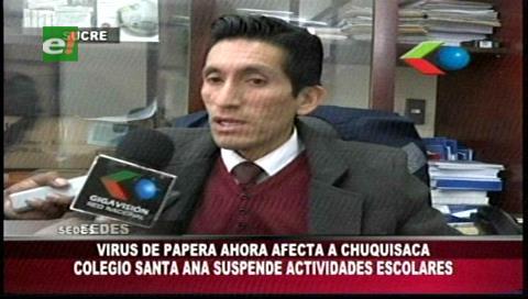 Sucre: Colegio suspende clases ante casos de paperas