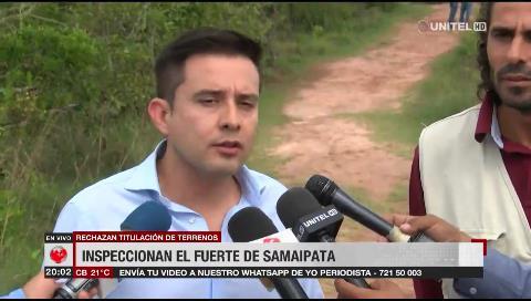 Investigan supuesto avasallamiento: Autoridades inspeccionaron el Fuerte de Samaipata
