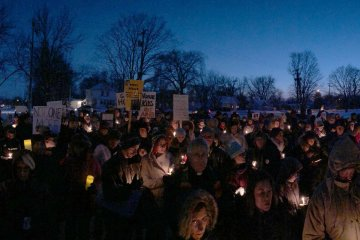 A vigil for victims of gun violence, held in Lakeville, MN.